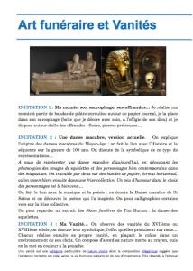 Art funéraire et Vanités