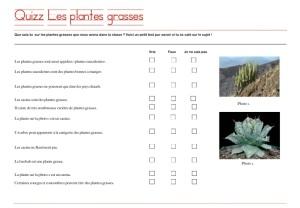 Quizz plantes grasses