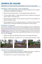 Séances jardins du monde