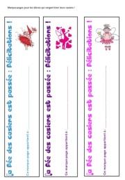 La fée des casiers - Marque-pages pour les élèves