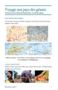 Voyage au pays des géants et cabinet de curioistés