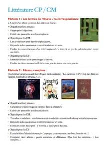 Programmation littérature CP:CM