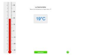 Thermomètre interactif